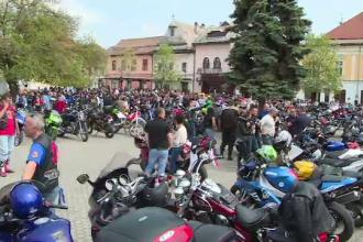 Sezonul moto, deschis cu o parada spectaculoasa in Baia Mare. Mesajul motociclistilor pentru soferi