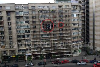 S-a transformat peste noapte. Cum arata azi blocul din centrul Capitalei unde ieri dormea un muncitor, la etajul 6