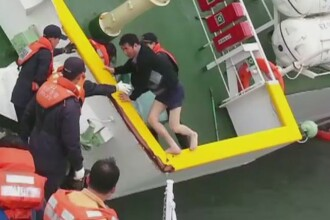 Imagini in premiera cu tragedia din Coreea de Sud. Un elev a filmat momentul in care feribotul Sewol se scufunda