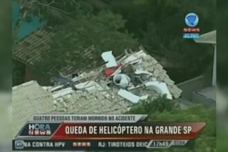 Elicopter prabusit peste o casa, in Brazilia. Patru oameni, inclusiv fiul unui guvernator, morti in catastrofa aviatica