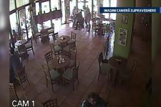 Camera de supraveghere: Un fost politist si un boxer il lovesc cu pumnii pe presedintele unui club sportiv din Baia Mare