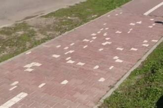 O pista de biciclete din Iasi, sursa de amuzament pentru intreg mapamondul. Cum au reparat autoritatile pavelele