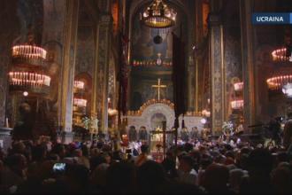260 de milioane de ortodocsi au primit Lumina Sfanta. Patriarhul ucreainean a criticat Rusia pentru razboiul din Donbass