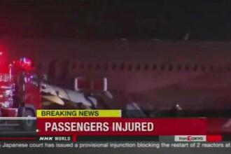 Aeroportul din Hiroshima, aproape de o tragedie. Cel putin 20 de pasageri au fost raniti dupa ce un A320 a iesit de pe pista