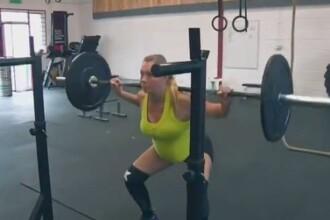 Se antreneaza ridicand greutati de 100 de kg, desi este gravida in luna a 8-a. Ce mai include antrenamentul viitoarei mame
