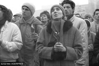 """22 aprilie 1990, revolutia de dupa Revolutie. """"Golaniada"""", cea mai ampla demonstratie anticomunista dupa caderea comunismului"""