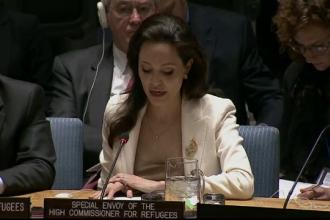 Angelina Jolie a pledat pentru refugiatii sirieni, in fata ONU:
