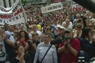 Proteste de amploare la Zagreb din cauza cursului franc - kuna: