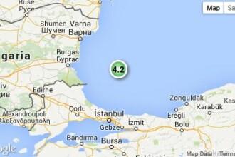 Cutremur de 4,2 pe scara Richter in Marea Neagra. Seismul s-a produs la o adancime de 15 kilometri