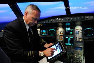 Zboruri tinute la sol din cauza ca pilotilor li s-au inchis tabletele. S-au plimbat cu avionul prin aeroport dupa un wireless