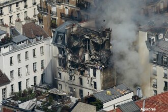 Explozie uriasa in centrul Parisului. Bilantul ranitilor a ajuns la 17, dintre care 11 sunt pompieri. FOTO