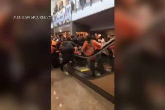 Incident inspaimantator pe un stadion din Philadelphia. Ce s-a intamplat dupa ce o scara rulanta a prins brusc viteza