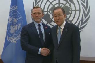Daniel Craig, intalnire cu Ban Ki-moon. Actorul a solicitat finantare internationala pentru eliminarea minelor terestre