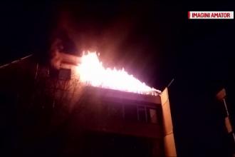 Panica intr-un cartier din Iasi dupa ce mansarda unui bloc a luat foc. Cauzele incendiului: