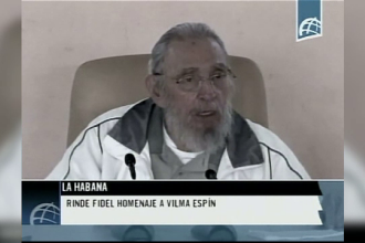 Fidel Castro, aparitie rara in public. Discursul tinut in fata elevilor de la o scoala din Havana