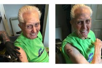 Si-a facut primul tatuaj la varsta de 104 ani si a intrat in Cartea Recordurilor. Ce si-a inscriptionat acest barbat pe brat
