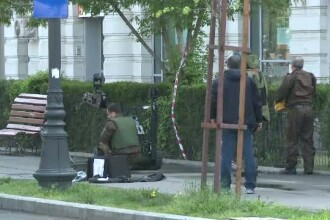 Alarma cu bomba la Ambasada Israelului din Bucuresti. Brigada Antitero a intervenit cu un robot dotat cu camere video