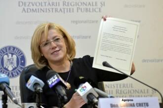 """Corina Crețu avertizează Guvernul că nu depune proiecte și România pierde bani. """"Sunt probleme"""""""