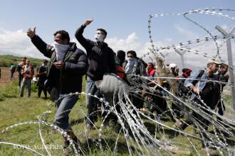 Scene de razboi la frontiera intre Grecia si Macedonia. Sute de migranti au fost raniti in luptele cu politia. FOTO si VIDEO