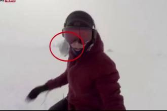 Urmarita de un urs in timp ce se dadea cu snowboard-ul. Tanara e acuzata ca filmuletul postat online e fals