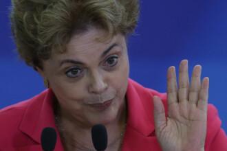 Presedinta Braziliei, Dilma Rousseff, la un pas sa fie suspendata din functie. Gafa facuta de vicepresedinte pe WhatsApp
