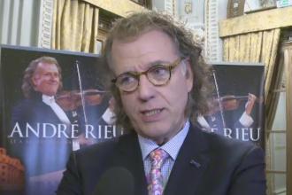 Andre Rieu s-a intalnit cu supravietuitorii incendiului din Colectiv. Donatia facuta de celebrul violonist pentru raniti