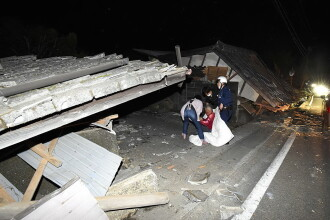 Cutremur cu magnitudinea de 6,5 in Japonia. Bilant provizoriu: doi morti si 400 de raniti