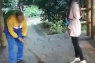 O scena filmata in secret intr-un parc din China a starnit reactii furioase pe internet. Gestul revoltator facut de o tanara