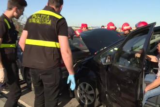 Carambol cu 7 masini pe DN1, la iesirea din Bucuresti. Trei copii au ajuns la spital: care este starea lor acum