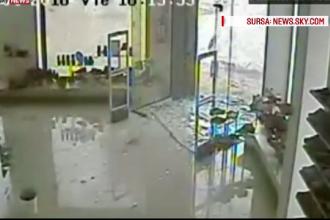 O tornada a spulberat un magazin din Uruguay. Imaginile incredibile surprinse de camerele de supraveghere