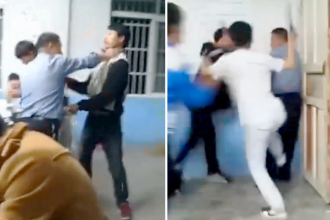 Profesorul si elevii unei scoli din China si-au impartit pumni si palme parte-n parte. De la ce a pornit bataia