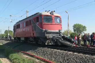 Tragedie pe calea ferata, in apropiere de Arad. Nimeni nu stie de ce soferul nu a observat trenul care venea spre el