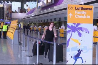 Haos pe cele mai mari aeroporturi din Germania dupa o greva Lufthansa. Ce curse din si spre Romania au fost anulate