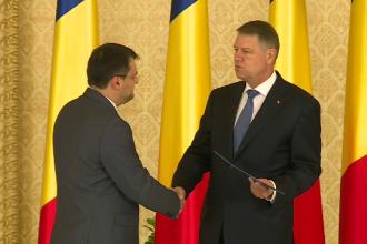 Cristian Ghinea a fost investit in functia de ministru al Fondurilor Europene. Klaus Iohannis a semnat decretul de numire