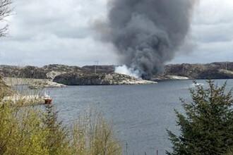 Un elicopter s-a prabusit pe o insula din largul Norvegiei: