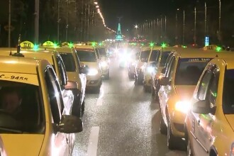 Zeci de taximetristi au protestat impotriva companiei Uber, in Capitala. Cum se apara reprezentantii aplicatiei