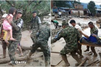 Tragedie fara precedent in Columbia. Bilantul victimelor dupa alunecarile de teren, actualizat la cel putin 254 de morti