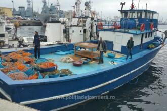 Nava turceasca, oprita cu focuri de arma de Garda de Coasta. Ce au gasit politistii romani la bordul ei