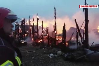 Un muncitor a ajuns cu arsuri grave la spital, in urma unui incendiu la o hala din Constanta. De la ce ar fi pornit flacarile