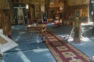Barbatul care a vandalizat o biserica din Bacau a fost identificat. Ce au gasit politistii la domiciliul sau