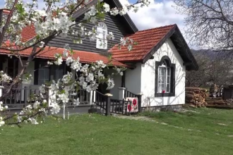 Case maramuresene vechi, mutate pentru a fi transformate in pensiuni. Cat au investit in afacere doi soti din satul Surdesti