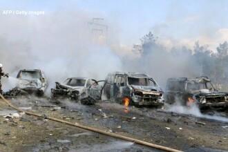 O bomba a explodat langa autobuzele care ii evacuau pe civili, in Siria. 70 de persoane au fost ucise