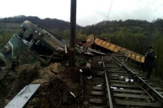 Cei doi mecanici ai trenului care a deraiat in Hunedoara au fost bauti, conform rezultatului necropsiei