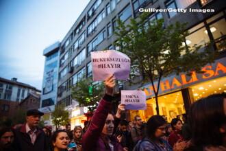 Zeci de persoane au fost arestate la Istanbul din cauza protestelor fata de rezultatul referendumului organizat de presedinte