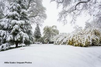 Ninsori si viscol ca in plina iarna: sosele blocate si mii de case ramase fara curent. Vineri, vremea rea va lovi din nou