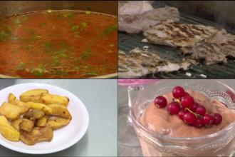 Cum reduceti la jumatate caloriile dintr-un pranz cu cartofi prajiti, friptura si desert, fara sa