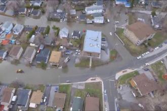 Stare de urgenta in Canada, din cauza inundatiilor. Mai multe drumuri din provincia Quebec au fost inchise