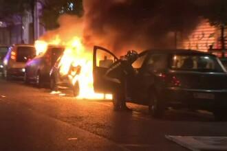 Violente de strada in Piata Bastiliei, dupa anuntarea rezultatelor primului tur al alegerilor. Cine au fost nemultumitii