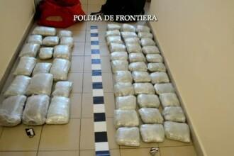 Doi indivizi din Albania, prinsi la frontiera din Timis in timp ce incercau sa introduca in tara 34 de kilograme de canabis