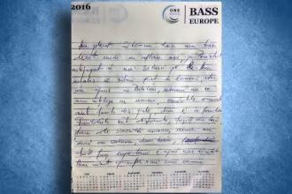 Rândurile scrise de Florin Buliga în jurnalul său imediat după tripla crimă. Textul se incheie brusc